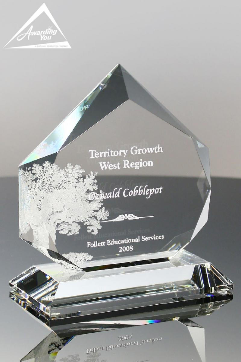 Ideal Diamond Awards have ample engraving space