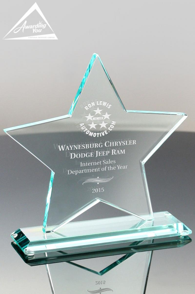 Star shaped awards are great for membership recognition