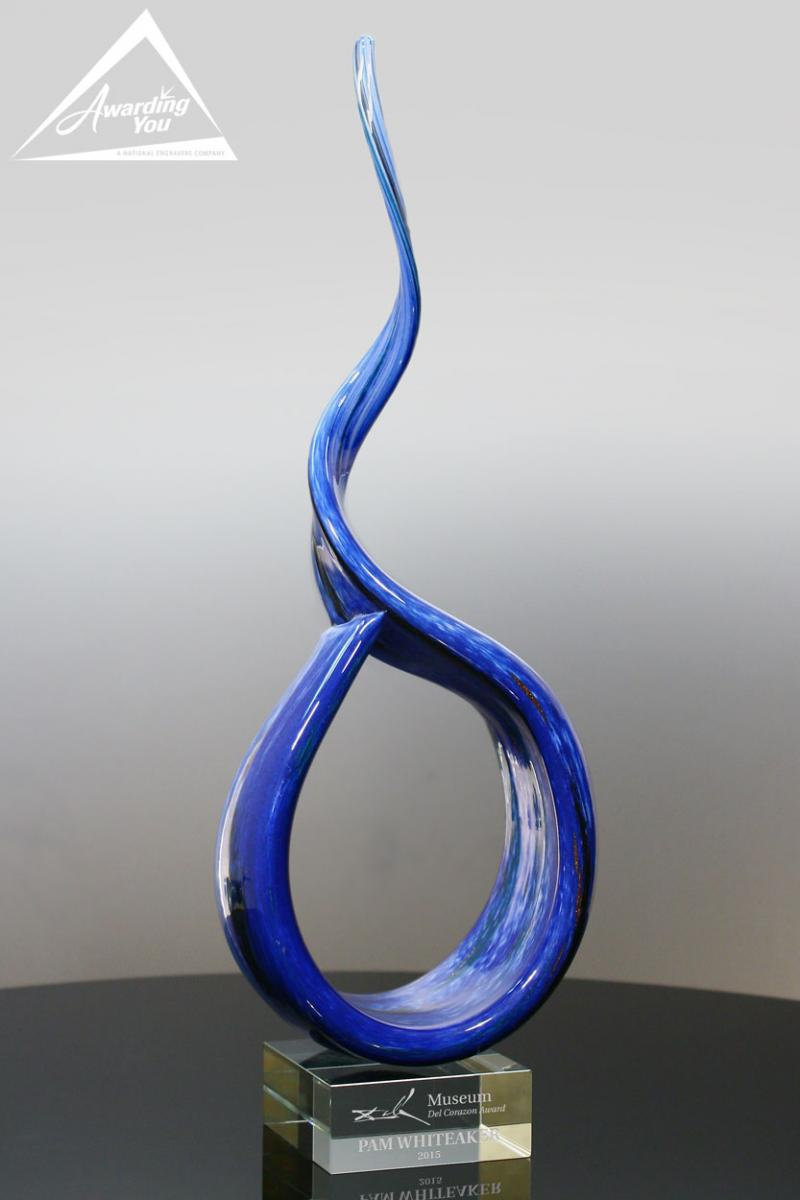 art glass awards are excellent for display within teams and deparments