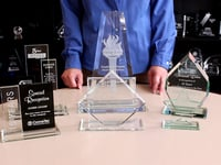 The Difference Between Glass and Crystal Awards