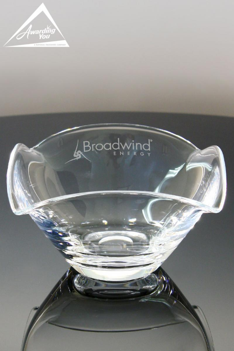 Glass Vases and Bowls are a very functional way to recognize high performing sales team members