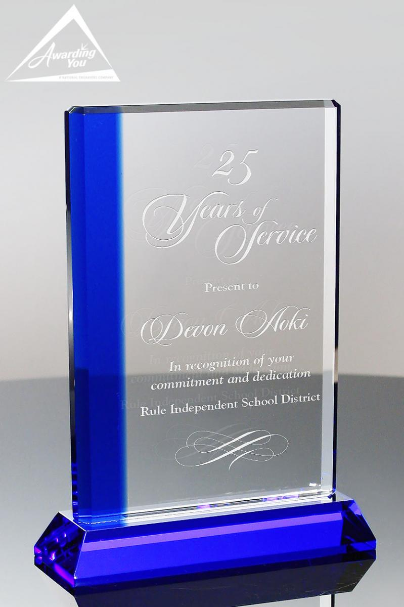 The Sapphire Crystal Stripe Award Looks Gorgeous Engraved