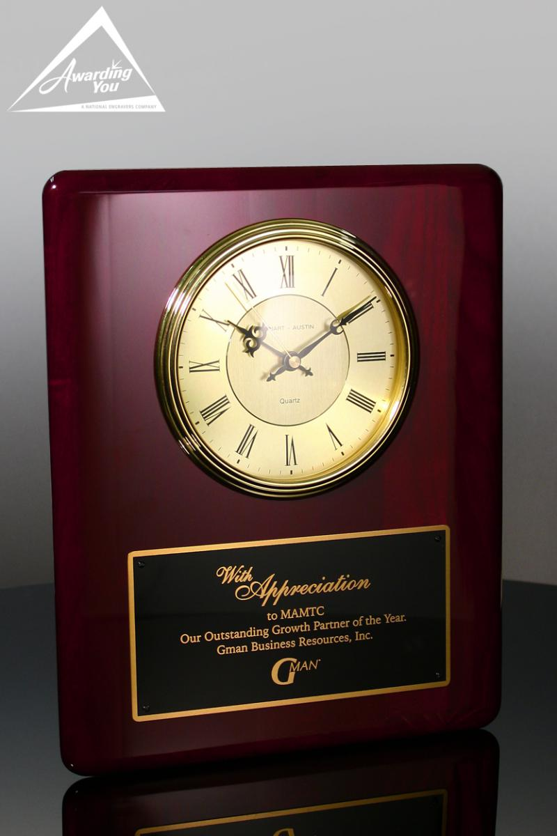 Engrave a Clock Plaque to say thank you