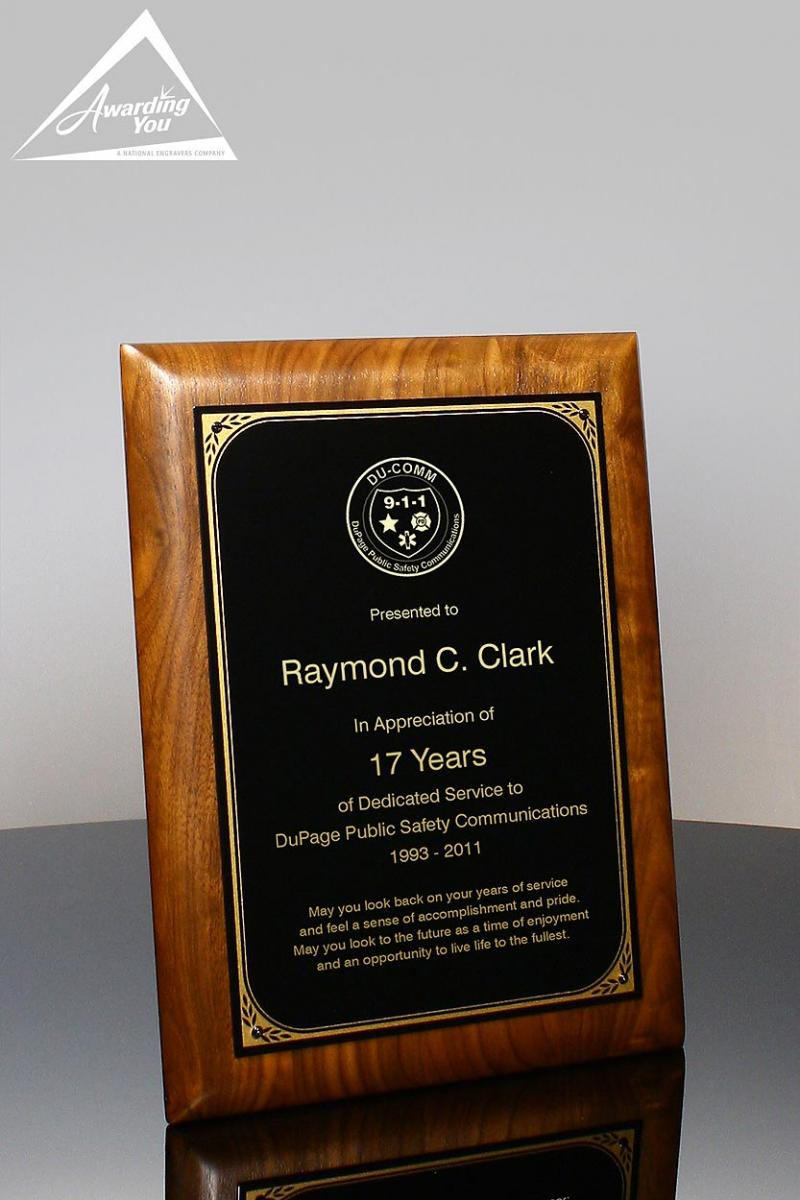 Engraved Plaques Are A Common Volunteer Recognition Award