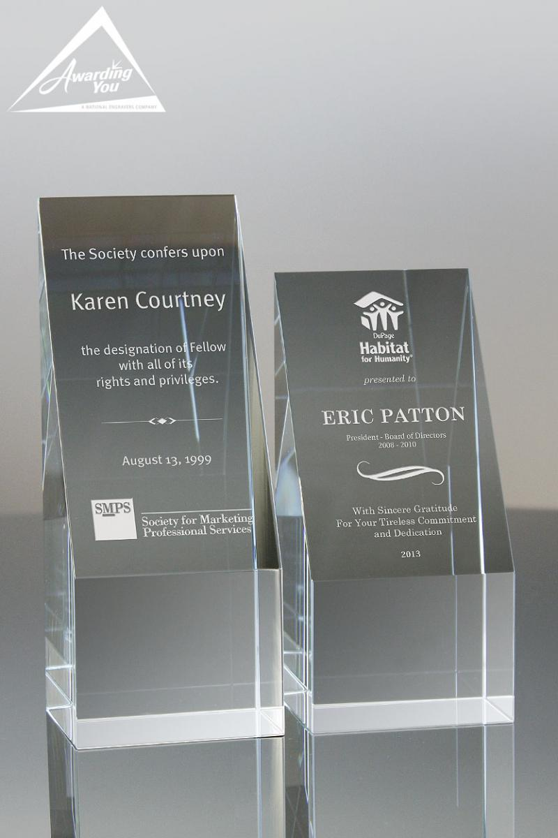 Engraved Crystal awards are an excellent way to recognize success