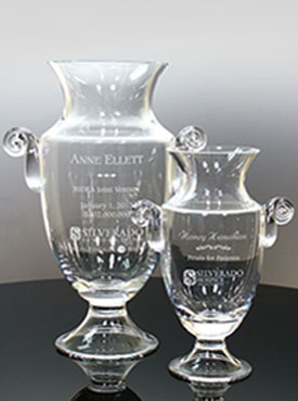 Glass and Crystal Bowls and Vases