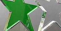 Green crystal star award adds color to your awards program