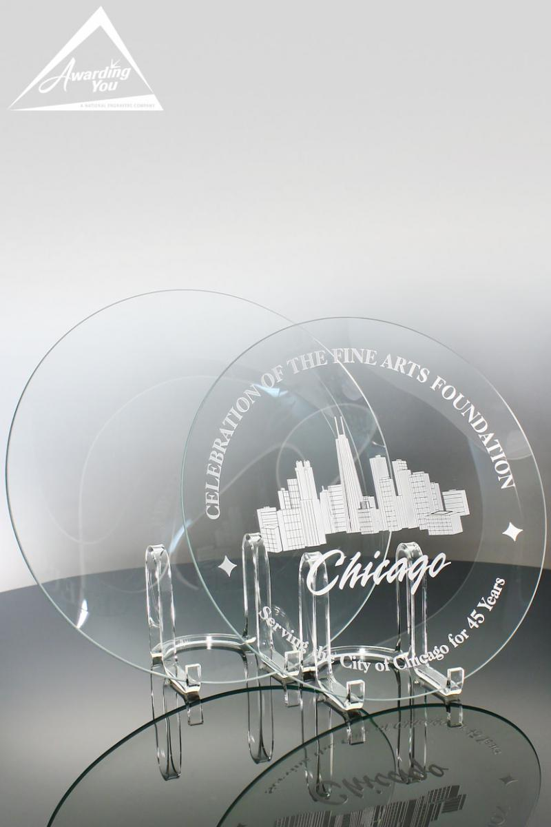 Engrave Your New Facility on a glass award