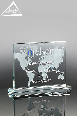 Commemorate your grand opening with the Right Angle Glass Award