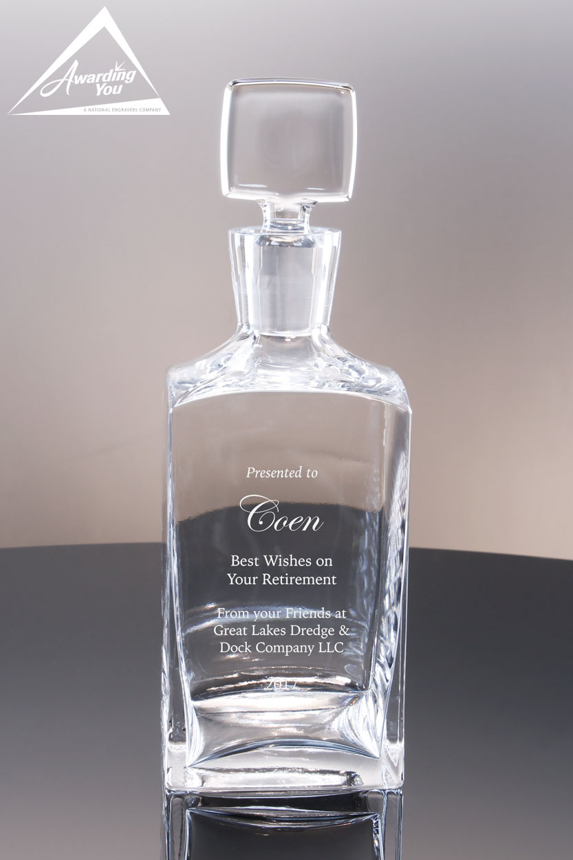 Decanters are popular retirement gift ideas for men