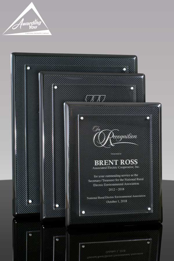 Award Nominees are often recognized with an engraved plaque