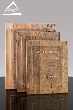 Weathered Wood and Acrylic Retirement Plaque Award